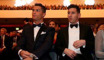Ballon d'Or: Quand Ronaldo salue la compagne de Messi